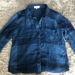 Anthro Cloth & Stone Flannel Button Down